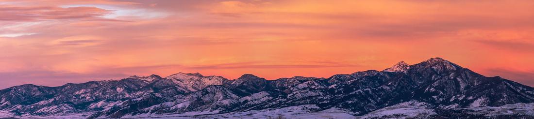 Bridger Mountains Panorama- Bozeman, MT