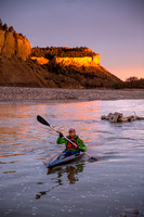 Kayaking on the Yellowstone River near Billings