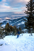 Backcountry skiing Bozeman