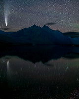 Comet NEOWISE over Lake McDonald, Glacier National Park